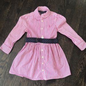 Pink Ralph Lauren Pink Pinstripe Dress